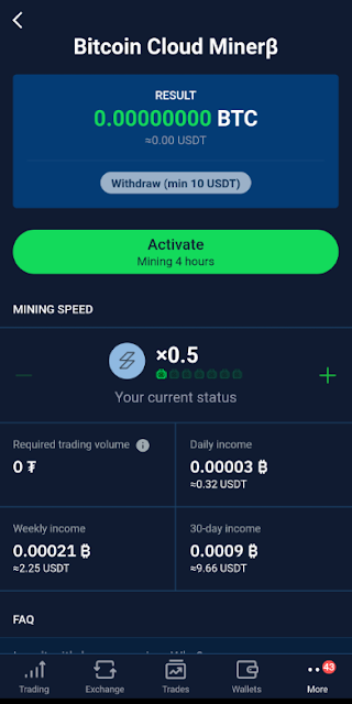 Bitcoin mining app on Android devices