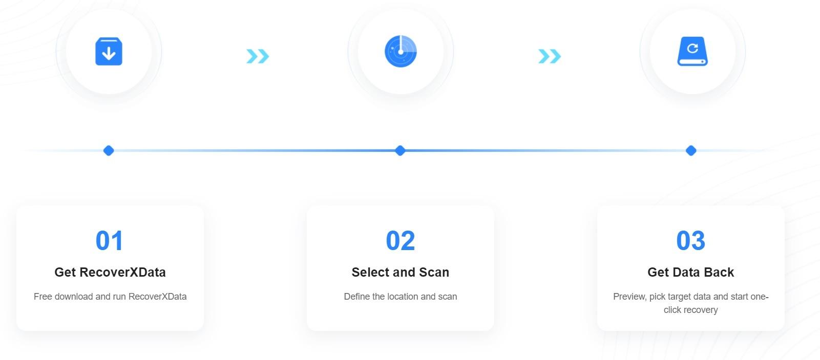 برنامج استرجاع الملفات المحذوفة RecoverXData