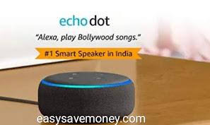 ₹1,000 off on Alexa Echo Dot
