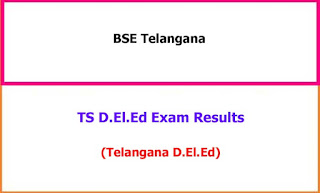 TS Deled Exam Results 2021