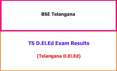 TS Deled Exam Results