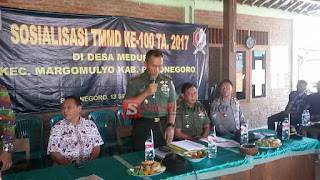 Dandim 0813/Bojonegoro Sosialisasikan TMMD Ke 100 Di Desa Meduri
