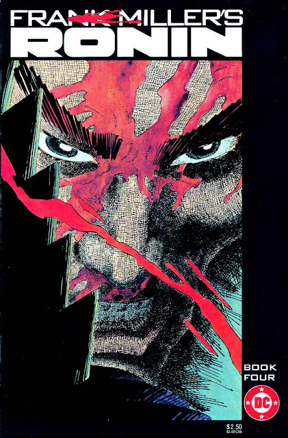 Ronin v1 #4 dc comic book cover art by Frank Miller