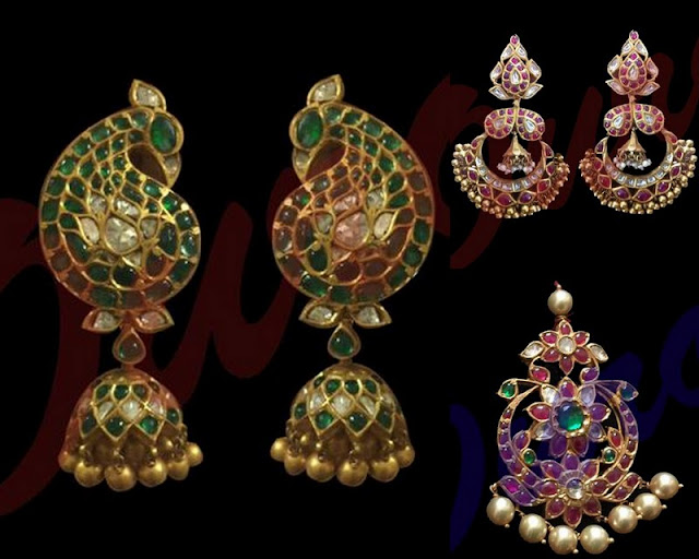 Jhumkas and Pendant by Ouro