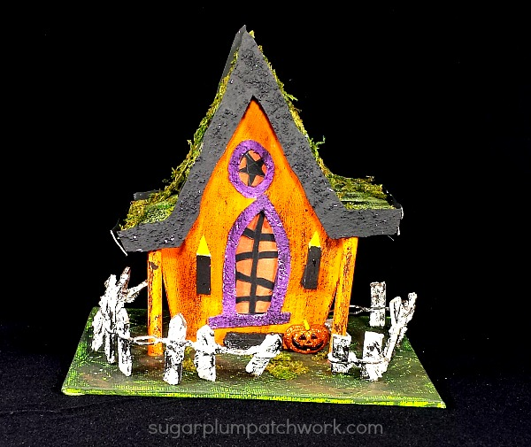 Halloween Glitter House with fence