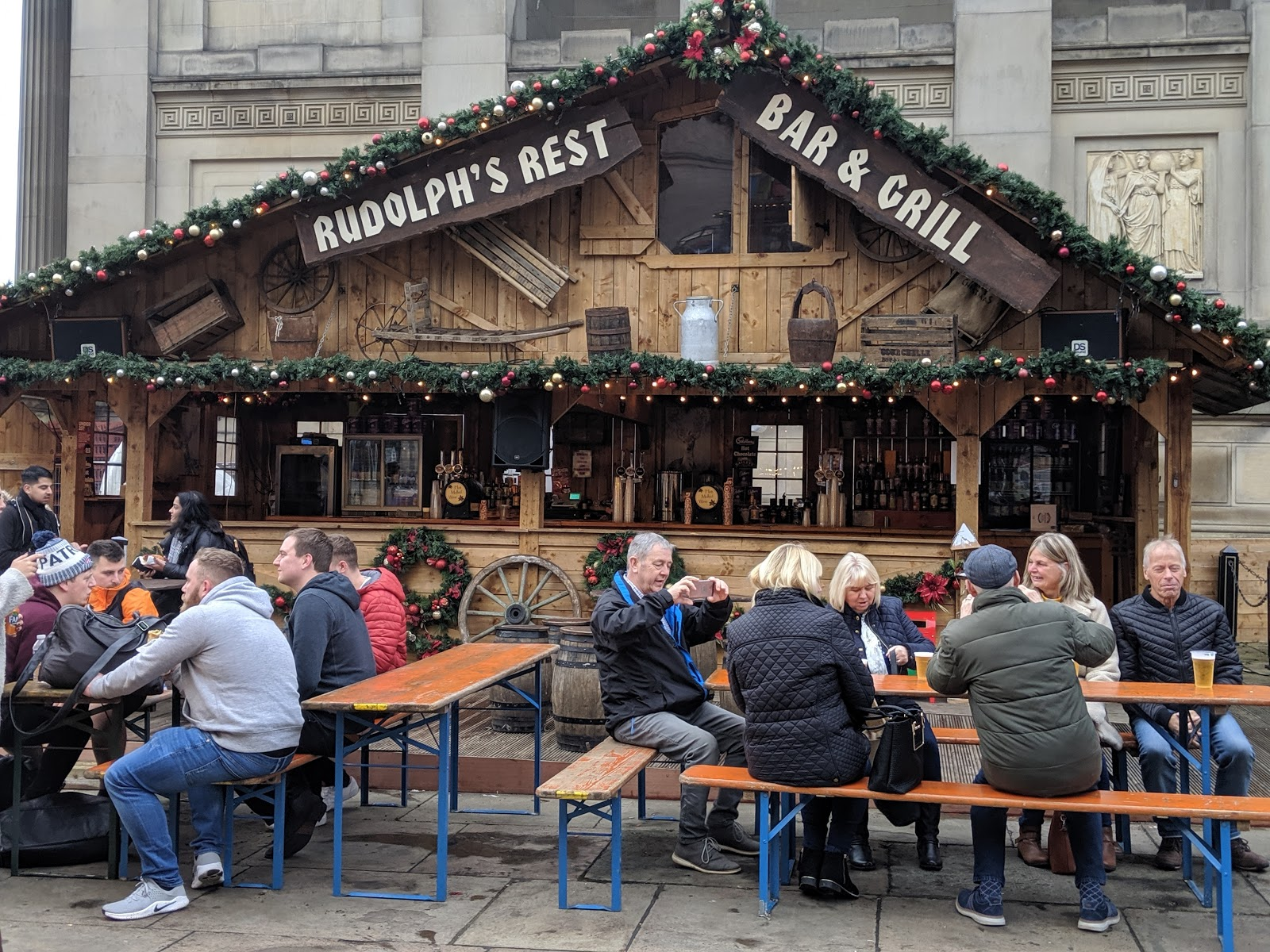 A Guide to Visiting Liverpool Christmas Markets & Lights  - rudolphs rest bar