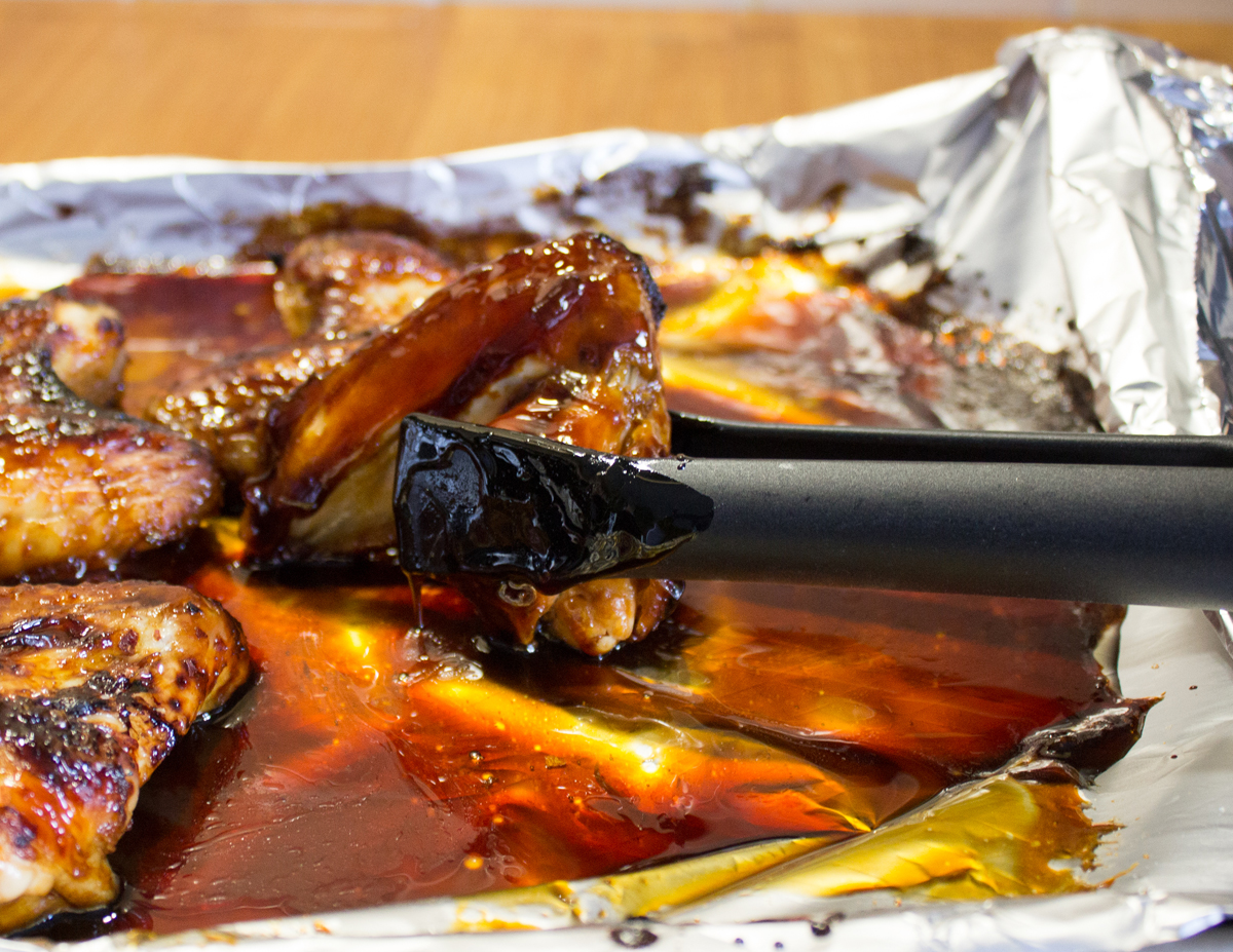 Sticky Chilli Chicken Wings not sticking to BacoFoil