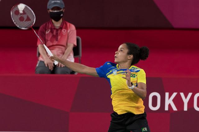 Fabiana Silva em sua primeira participação olímpica