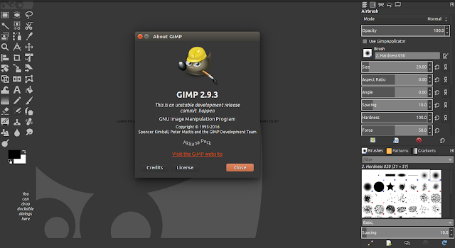 Latest Look of Gimp in Ubuntu