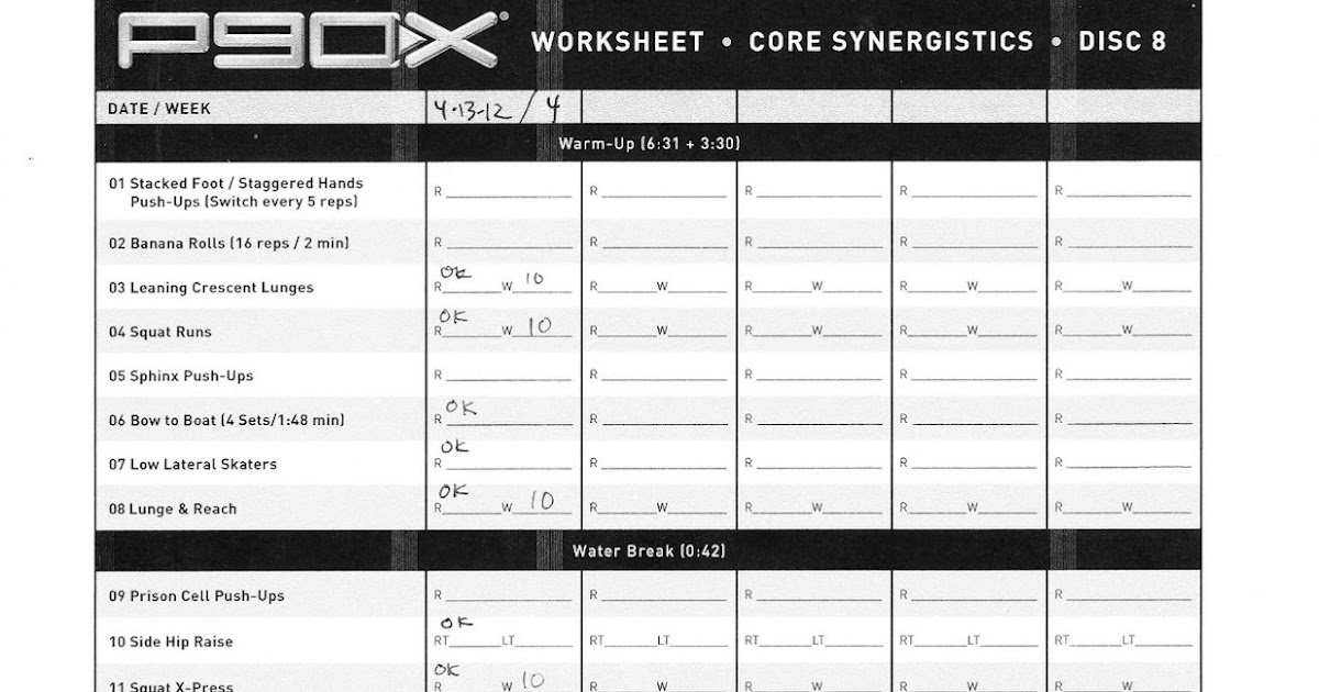 My P90X Diary: Day 23 (Core Synergistics) Rest and recovery