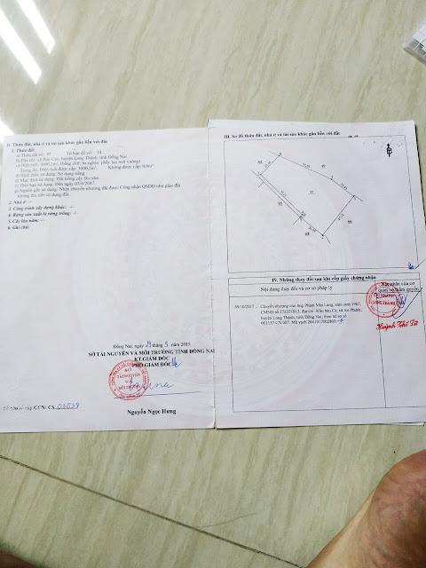 Bán 3708.3m2 đất Bàu Cạn, Long Thành, Đồng Nai