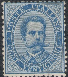 1879 Kingdom Italy, Umberto I 25 cent blue