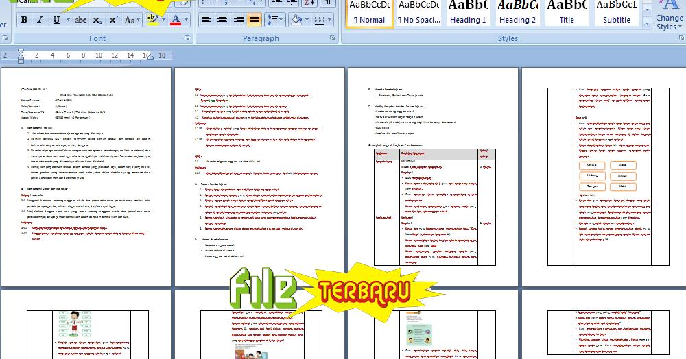 Rpp Kurikulum Untuk Sd Kelas Download Lengkap