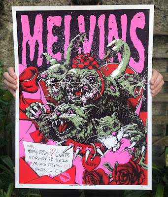 Melvins poster at scale