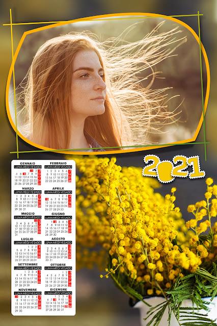 Calendario foglio singolo festa della donna