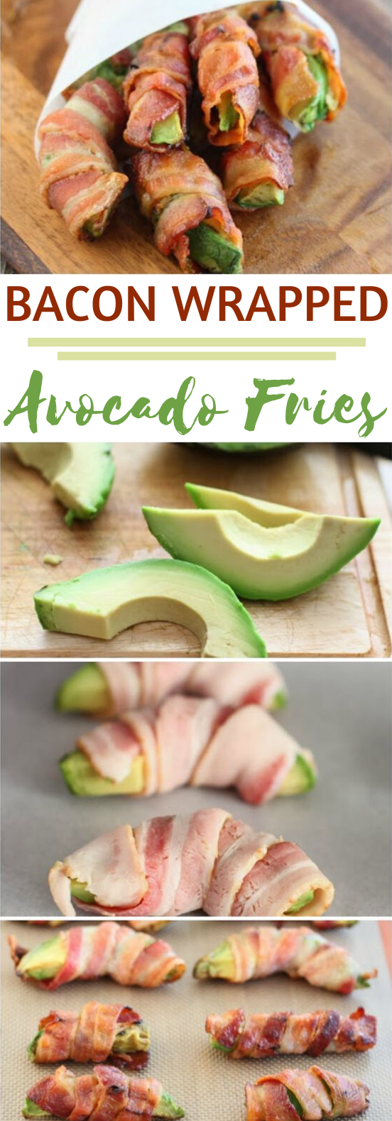 Bacon Wrapped Avocado Fries #healthy #keto #appetizers #lowcarb #partyfood