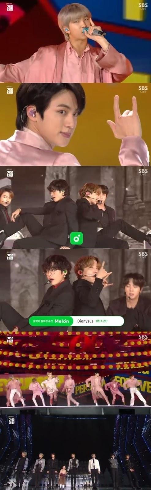 BTS 'SBS Gayo' töreninin kapanışını yaptı