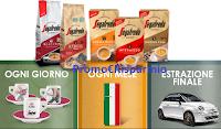Logo Segafredo ''Vinci il vero stile Italiano'': set tazzine, Frigoriferi Smeg e Fiat 500