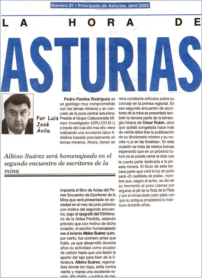 Encuentros de Escritores de la Mina, Luis José Avila
