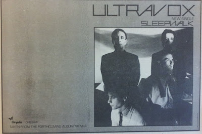 Top Of The Pops 80s Ultravox Sleepwalk 1980