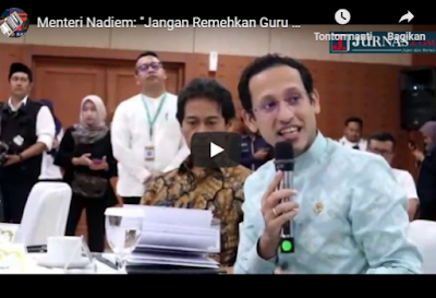 Mendikbud Nadiem Makarim: Jangan Remehkan Guru Dan Kepala Sekolah