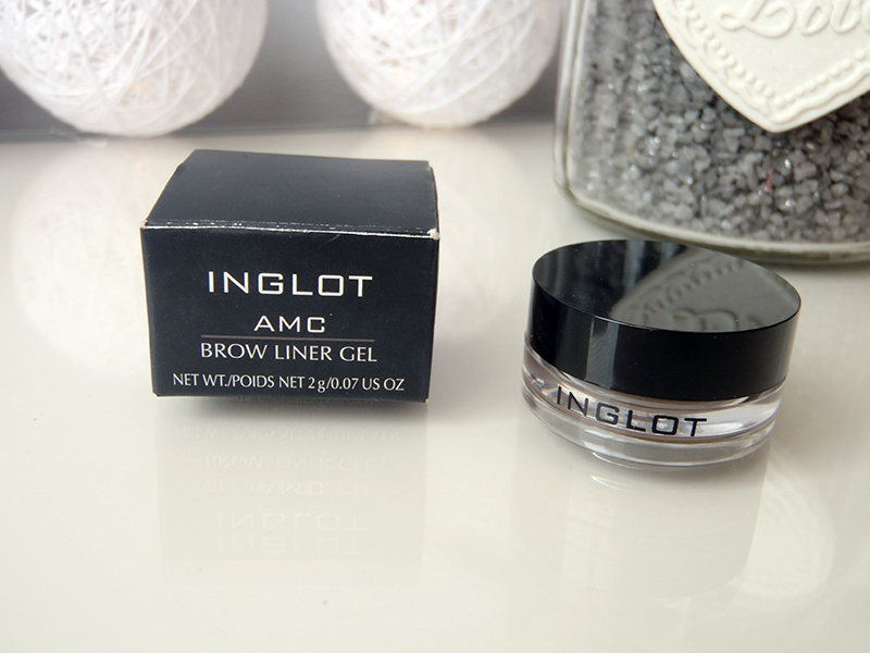 Inglot amc, brow liner gel, żel do brwi