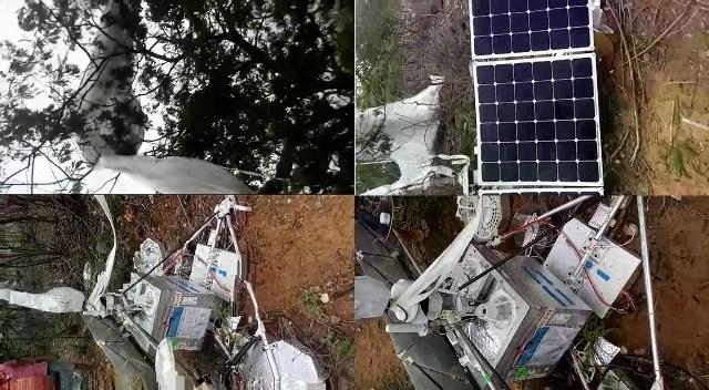 """Fotos juntas do """"satélite"""" da Google que caiu em Santa Maria da Boa Vista"""