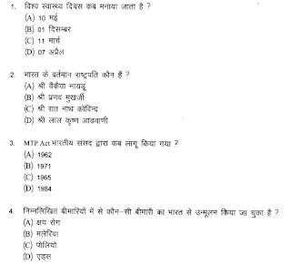 Rajasthan NHM CHO Question paper Answer key 2020