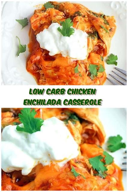 #Low #Carb #Chicken #Enchilada #Casserole #chickenrecipes #recipes #dinnerrecipes #easydinnerrecipes