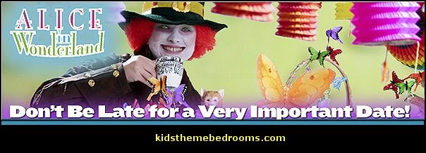 croquet party ideas  Alice in Wonderland party decorating ideas - Alice in Wonderland theme party decorations - Alice in Wonderland costumes - Alice in Wonderlnd wall decals - Alice in Wonderland wall murals - tea party theme Alice in Wonderland Tea Party