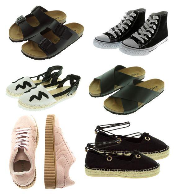 sandalias planas y zapatillas