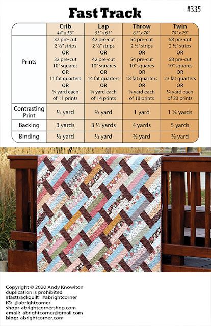 Fast Track quilt pattern by Andy Knowlton