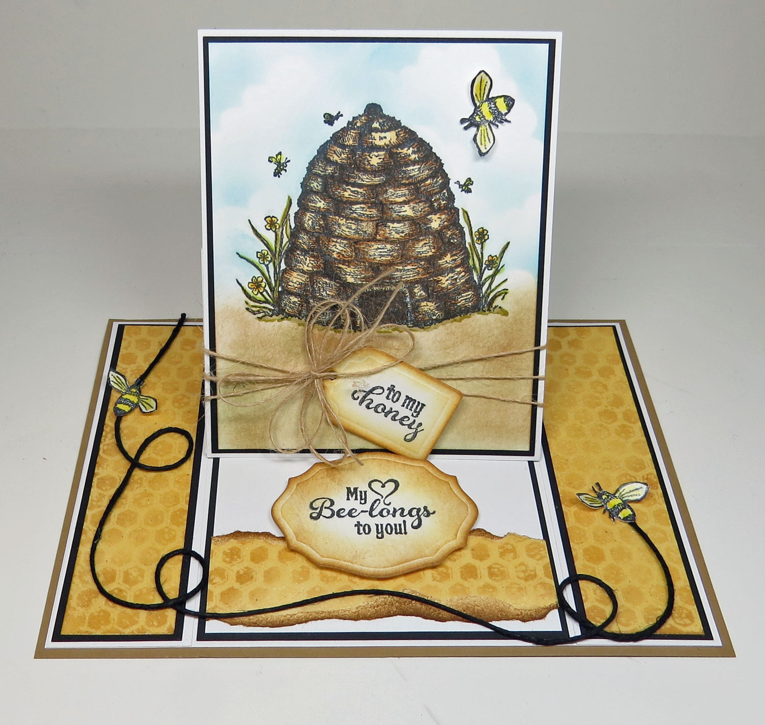 Stamps - Our Daily Bread Designs Sweeter than Honey, Honeycomb Background,ODBD Custom Recipe Card and Tags Die,ODBD Elegant Oval Die