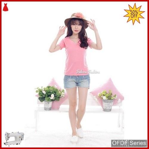 OFDF015 Atasan Kaos Ov Neck Basic 34 BMGShop
