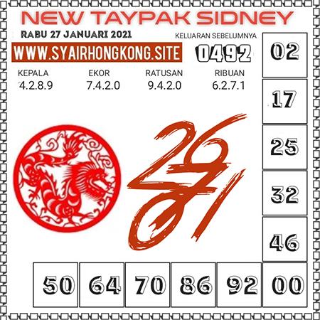 Prediksi New Taypak Sydney Rabu 27 Januari 2021