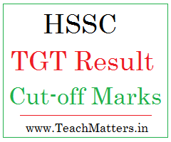image : HSSC TGT Result, Cut-off Marks 2016-17 @ www.TeachMatters.in