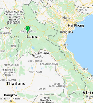 luang prabang laos pinpoint map