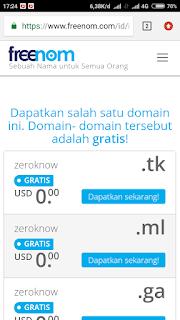 Membuat domain gratis