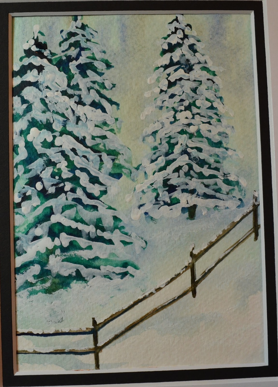 Kellie Chasse Fine Art Steps For Painting A Winter Pine
