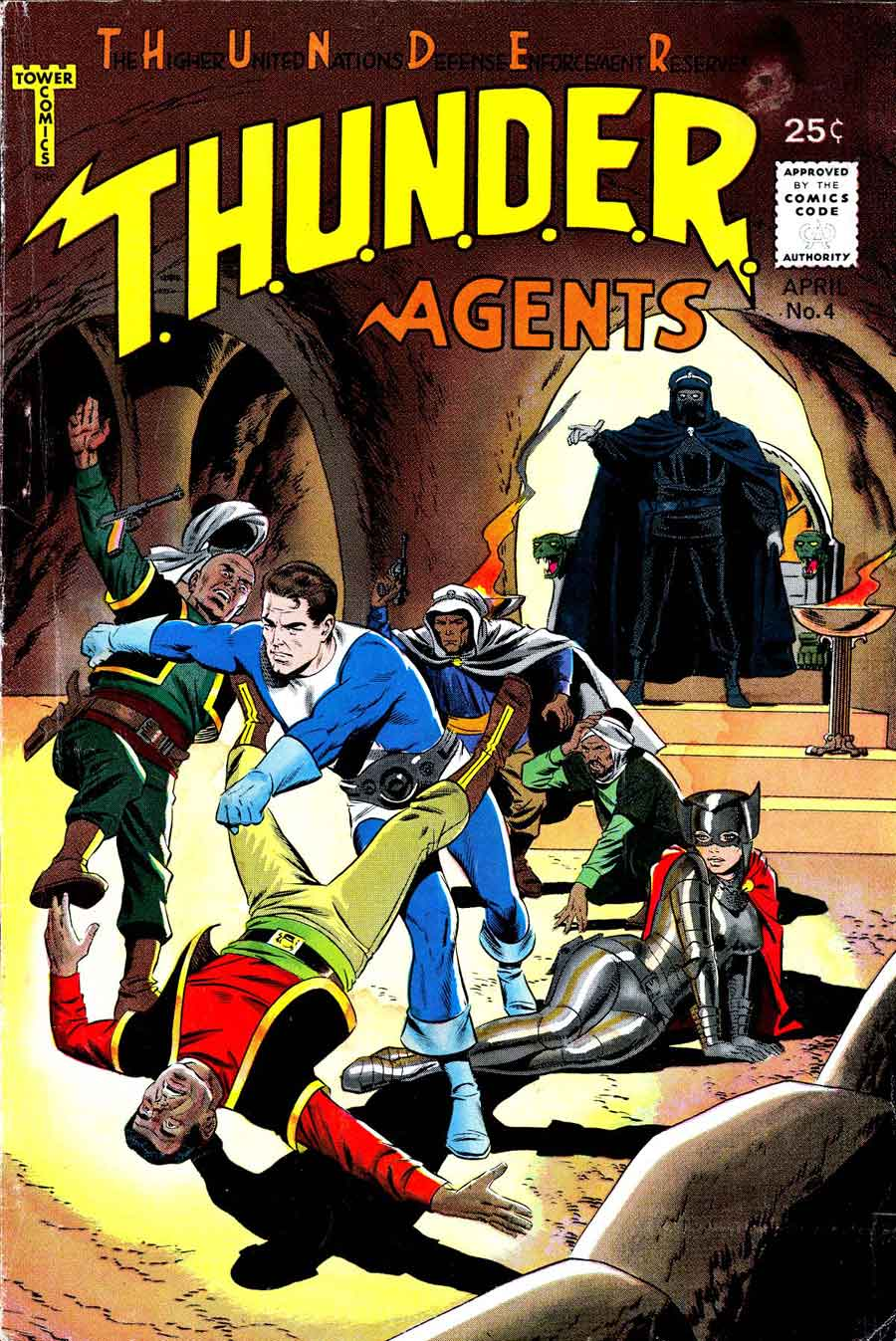 Thunder Agents v1 #4 tower silver age 1960s comic book cover art by Wally Wood
