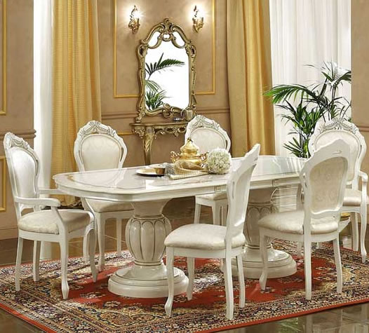 Italian white dining room furniture home furniture for Italian dining room sets
