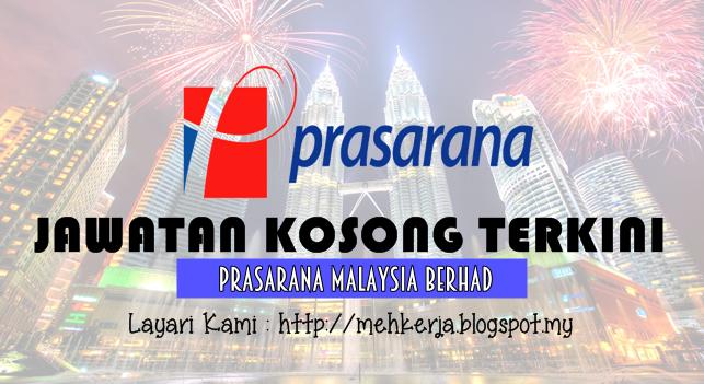 Jawatan Kosong Terkini 2016 di Prasarana Malaysia Berhad