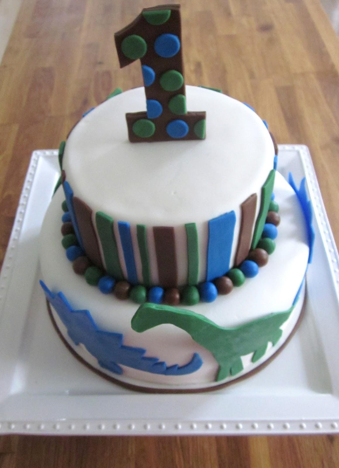 Darlin Designs Dinosaur 1st Birthday Cake