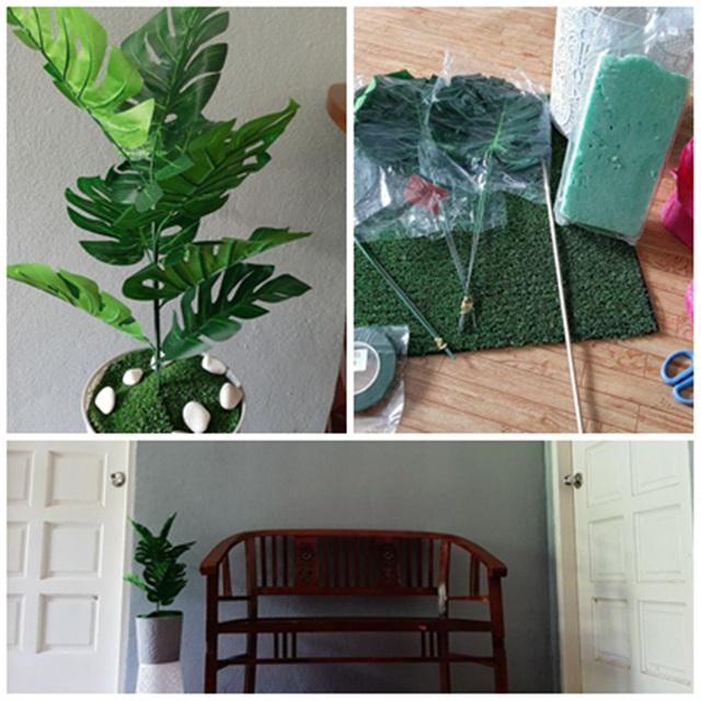 DIY Pokok Monstera Tiruan, Hiasan Cantik Dan Menjimatkan Kos