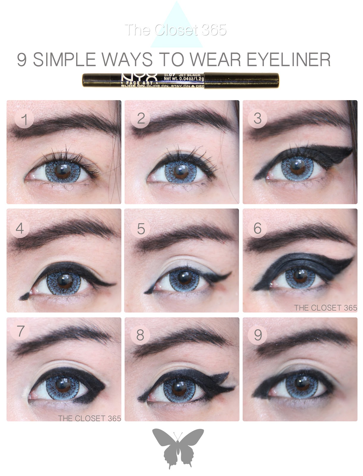 9 Simple Easter Nail Art Designs With Pictures: The Closet 365: 9 Simple Ways To Wear Eyeliner