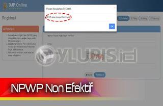 Download Formulir Permohonan Non Efektif NPWP Pajak