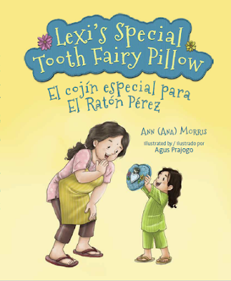 Make your own tooth fairy pillow after reading Lexi's Special Tooth Fairy Pillow/El cojín especial para El Ratón Pérez by Ann Morris. English-Spanish.