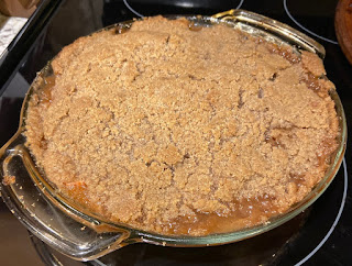 The end result of baking an Apple Betty.