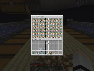 Inhoud van een kist met wortelen in het spel Minecraft.