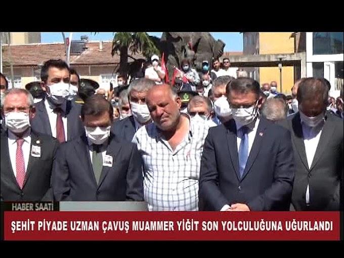 Piyade Uzman Çavuş Muammer Yiğit'in cenazesi, toprağa verildi.